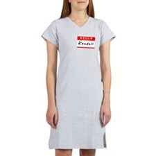 Kendall, Name Tag Sticker Women's Nightshirt