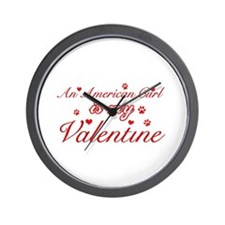 An American Curl is my Valentine Wall Clock