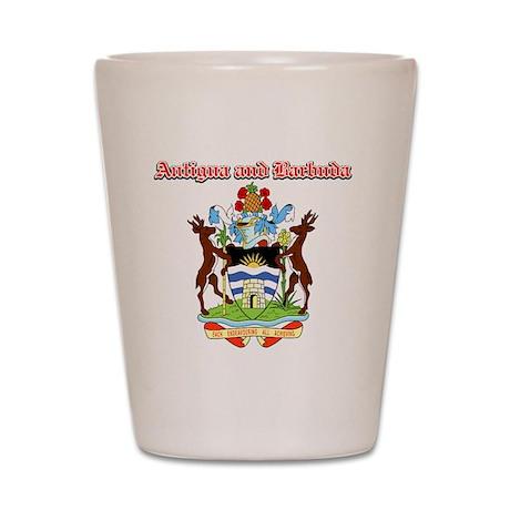 Antigua and Barbuda designs Shot Glass