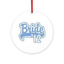 Baseball Blue Bride 2012 Ornament (Round)