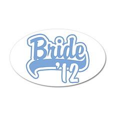 Baseball Blue Bride 2012 22x14 Oval Wall Peel
