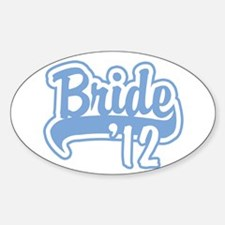 Baseball Blue Bride 2012 Sticker (Oval)