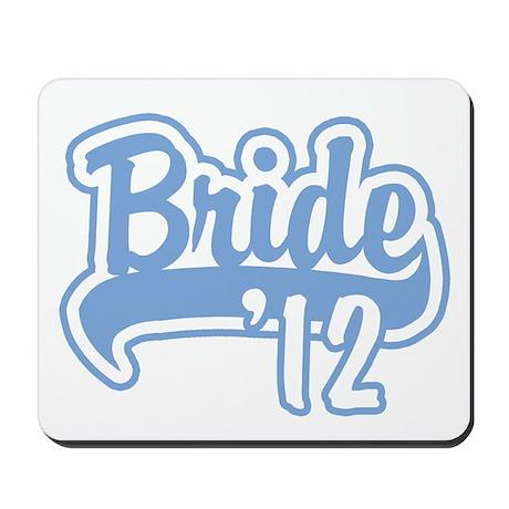 Baseball Blue Bride 2012 Mousepad