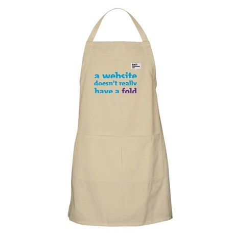 A Website doesn't really have a fold. Apron