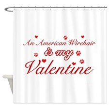 An American Wirehair is my Valentine Shower Curtai
