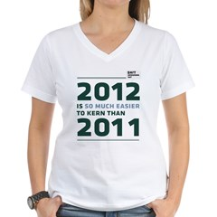 2012 is so much easier to kern than 2011 Shirt