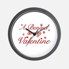 A Bengal is my valentine Wall Clock