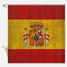 Vintage Spain Flag Shower Curtain