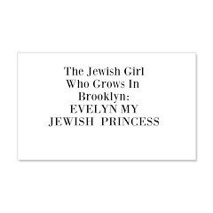 Tagline Evelyn My Jewish Princess memoir 22x14 Wal