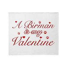 A Birman is my valentine Throw Blanket