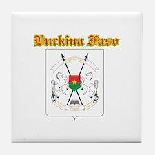 Burkina Faso designs Tile Coaster