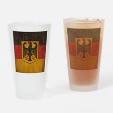 Vintage Germany Flag Drinking Glass