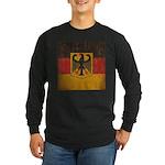 Vintage Germany Flag Long Sleeve Dark T-Shirt