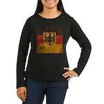 Vintage Germany Flag Women's Long Sleeve Dark T-Sh