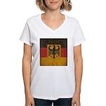 Vintage Germany Flag Women's V-Neck T-Shirt