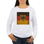Vintage Germany Flag Women's Long Sleeve T-Shirt
