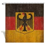 Vintage Germany Flag Shower Curtain