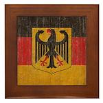 Vintage Germany Flag Framed Tile