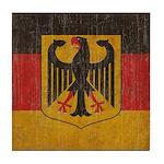 Vintage Germany Flag Tile Coaster