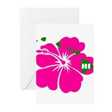 Hawaii Islands & Hibiscus Greeting Cards (Pk of 20