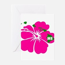 Hawaii Islands & Hibiscus Greeting Cards (Pk of 20