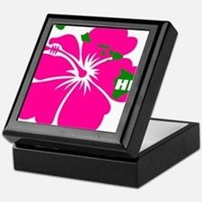 Hawaii Islands & Hibiscus Keepsake Box