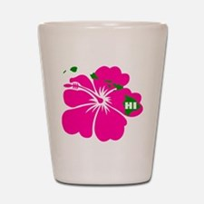 Hawaii Islands & Hibiscus Shot Glass