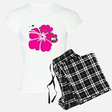 Hawaii Islands & Hibiscus Pajamas