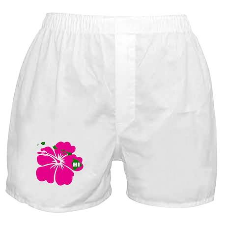 Hawaii Islands & Hibiscus Boxer Shorts