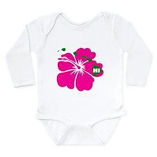 Hawaii Islands & Hibiscus Long Sleeve Infant Bodys