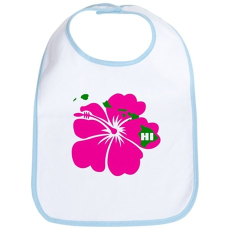 Hawaii Islands & Hibiscus Bib