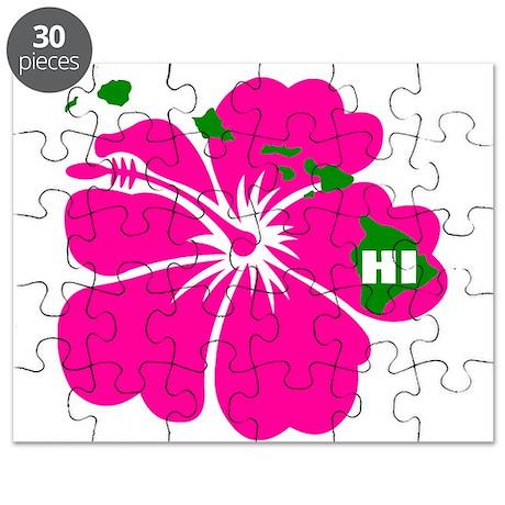 Hawaii Islands & Hibiscus Puzzle
