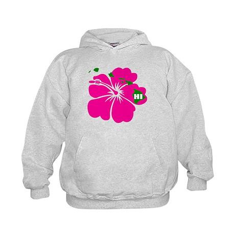 Hawaii Islands & Hibiscus Kids Hoodie