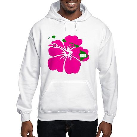 Hawaii Islands & Hibiscus Hooded Sweatshirt