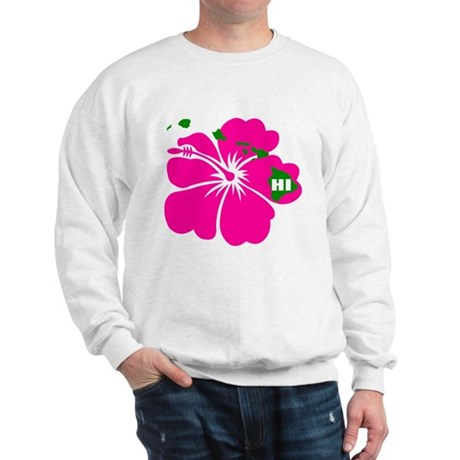 Hawaii Islands & Hibiscus Sweatshirt