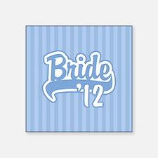 Baseball Blue Bride 2012 background Square Sticker