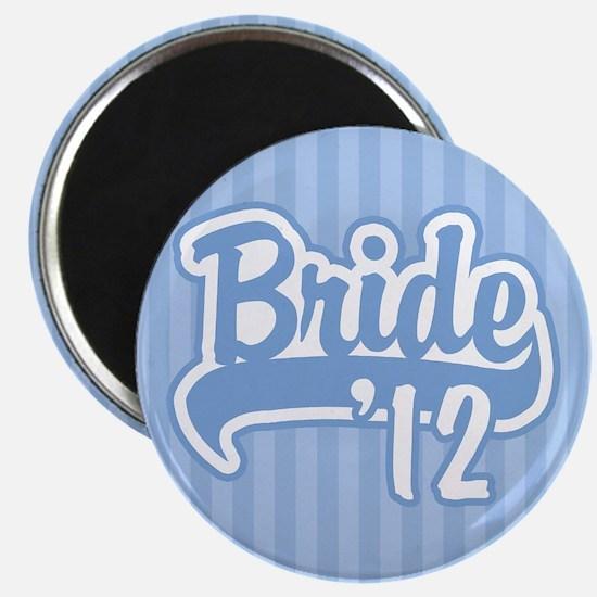 Baseball Blue Bride 2012 background Magnet