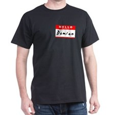 Damion, Name Tag Sticker T-Shirt