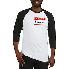 Damion, Name Tag Sticker Baseball Jersey