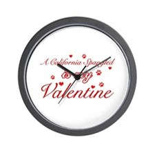 A California Spangled is my valentine Wall Clock