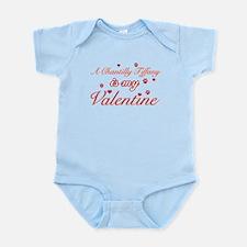 A Chantilly Tiffany is my valentine Infant Bodysui