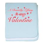 A Chantilly Tiffany is my valentine baby blanket