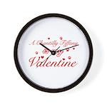 A Chantilly Tiffany is my valentine Wall Clock