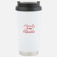 A Chartreux is my valentine Travel Mug
