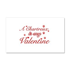 A Chartreux is my valentine Car Magnet 20 x 12