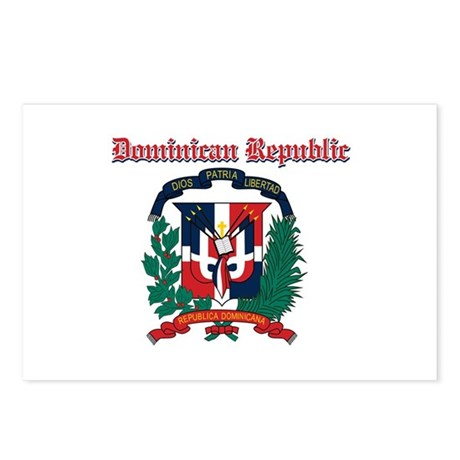 Dominican Republic designs Postcards (Package of 8