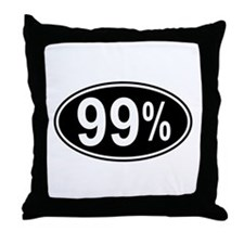 99 Percent Throw Pillow