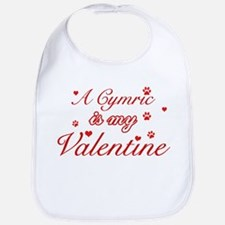A Cymric is my valentine Bib