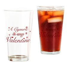 A Cymric is my valentine Drinking Glass