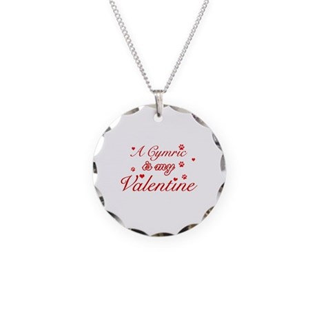 A Cymric is my valentine Necklace Circle Charm